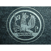 SALE Vintage Vauxhall Car Chassis Identification Plate, England, Griffin Badge, Handstamped ID