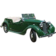SALE Original 1949 MG Automobile Serial and Engine Number Plate, Abington on Thames, England,