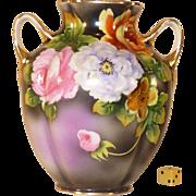 SALE Vintage Noritake Vase, Hand Painted, 1921 - 1939, Morimura, Porcelain