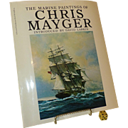 "SALE "" Marine Paintings of Chris Mayger "", Vintage 1st Edition US Book 1976, Titanic"