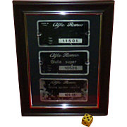 SALE Alfa Romeo, Vintage Firewall ID Plates, Original Giulia Super, & Spider Veloce, & GT ...