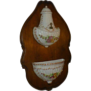 SALE Antique Victorian Capodimonte Lavabo, Wittenburg Germany Porcelain Mark, Early 1900's,  .