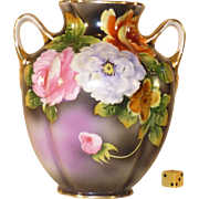 SALE Noritake Vase, Hand Painted, 1921 - 1939, Porcelain Morimura