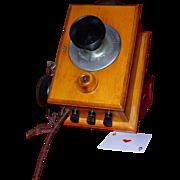 Rare Antique Telephone Intercom, Kellogg Co., Chicago, 1900, New Brunswick Tel. Co., Bakelite,