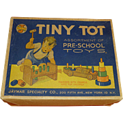 SALE 1950's Tiny Tot Toys, Original Box, Exceptional Condition, Display Piece, New York, Jayma