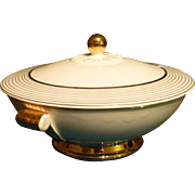 SALE Vintage, ' Taylor Smith & Taylor ' China Bowl, 22 Kt. gold Accents, Immaculate, Flawless