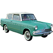 SALE Ford Anglia / Taunus, 1950's, England, Ireland, Germany,  Firewall ID Plates, Framed