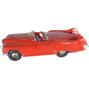 SALE 1950's Marx Friction Toy Race Car, The Sabre Concept Car, Roadster, Plastic, Rocket ...