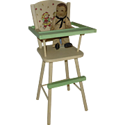 SALE 1970's Vintage Strawberry Patch Doll Highchair, Very Nice Condition