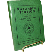 SALE 1969 Appalachian Trail Guide, Katahdin Section, Maine, Original Immaculate Condition, ...