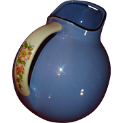 SALE Classic Hall Kitchenware China, Ball Pitcher Jug #633, Royal Rose Cadet Blue, FLAWLESS.