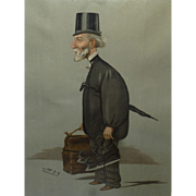 SALE Vintage Original Vanity Fair Spy Lithograph Print, Men of the Day, 1900, by Leslie ...