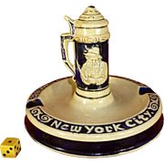 REDUCED 1940's Luchow's Restaurant Souvenir, NY City, Manhatten, Germany, Stein Ashtray, ...