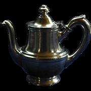 SALE Vintage Stolen Tea / Coffee Pot!  Silver Soldered, 1946,  Hotel Lafayette, San Diego, R.