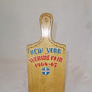 SALE NY World's Fair, 1964 - 65, Switzerland Souvenir Cheese Board, Rare