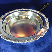 SALE Silver Plate Server with Handle, 1930-40
