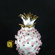 SALE Vintage 1950's Porcelain, Lefton Japan, Perfume Bottle, Flowers, Hand Painted