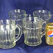 SALE Giant Beer Mugs, Old Cut Leaded Glass, 1950's, One Quart Each, Set of ...