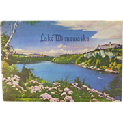 SALE Lake Minnewaska,  New York,  Rare 1930's  Souvenir Booklet, Shawanguck Mountains
