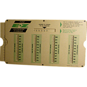 SOLD Old Teacher's  E-Z Average Grade Finder, 1962  Report Card Averager