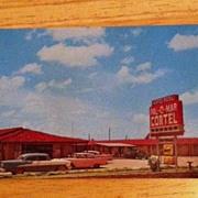 REDUCED Postcard Pal-O-Mar Cortel, Snyder, Texas