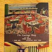 REDUCED Postcard The Carriage Shop at the Park Hotel, Lockport, New York