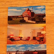 REDUCED Postcard The Flamingo Motel, Victoria, Texas