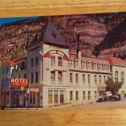 REDUCED Postcard Beaumont Hotel, Ooray, Colorado