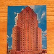 REDUCED Postcard Oklahoma City Sheraton Hotel