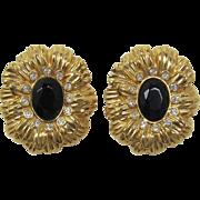 Kenneth Lane K.J.L. for Avon New York Collection Flower Earrings - Book Piece