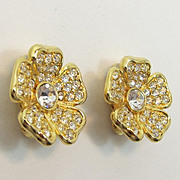 Joan Rivers Convertible Brooch & Extra Matching Earrings - Book Piece