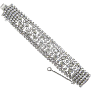 Marilyn Monroe Style Wide Clear Rhinestone Bracelet