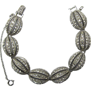 Glittering Eisenberg Clear Rhinestone Bracelet