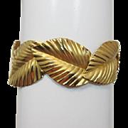 Napier Bright Gold-tone Leafy Bracelet