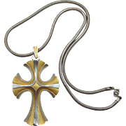Trifari Large and Elaborate Cross Necklace