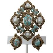 "Sarah Coventry ""Remembrance"" Brooch and Earring Set"