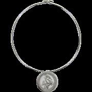 Trifari Wire Necklace with Capricorn Zodiac Pendant