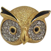 "Signed ""Jomaz"" Owl Head Figural Pin"
