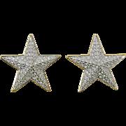 Swarovski Large Rhinestone Star Earrings