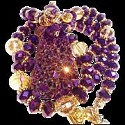 SOLD Free Form Titanium Druzy on Swarovski Crystal Necklace & Earring Set