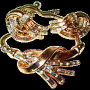 SALE Vintage Stunning/Rare Trifari Baguette Rhinestone Necklace/Earring Set