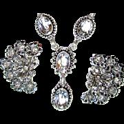 SOLD Rock Crystal Necklace, Bracelet, Earring Set