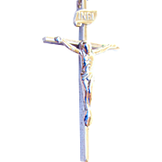 REDUCED Sterling Silver Cross with Jesus/Sterling Chain