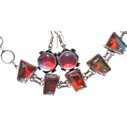 SALE Color Changing Crystal Earrings/Bracelet