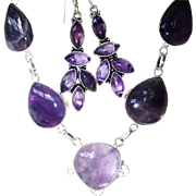 SOLD Amethyst Necklace and Earring Set