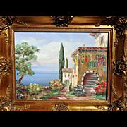 REDUCED Rare Italian Landscape Oil Painting by Luigi Sandini