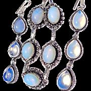 SALE Opalite Bracelet and Earring Set