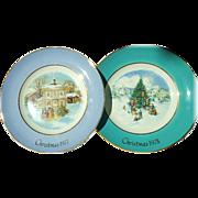 SALE 2 Avon Christmas plates--1977-78
