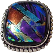 SOLD Dichroic Glass Ring-SZ 10