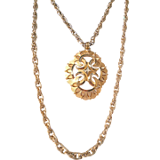 SALE Vintage Trifari 2 layer Gold Tone Thick Chain